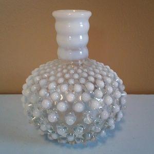 Vintage Hobnail Opalescent Bottle / Vase